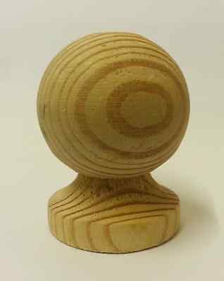 Untreated Wooden Ball Finial for 6 ins post