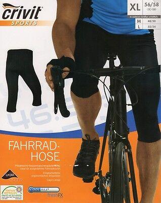 Herren Radhose 3/4 M L XL Fahrradhose mit Sitzpolster Hose Fahrrad Coolmax
