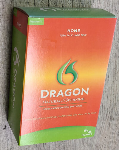 Nuance Dragon NaturallySpeaking Home Ver 11 + Headset - PC Windows - NEW SEALED