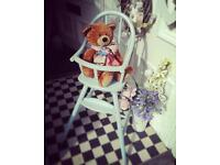 Gorgeous shabby chic high chair