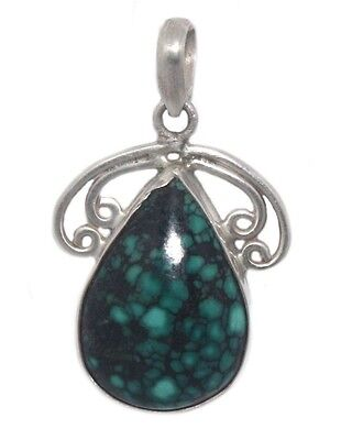 Turquoise pendant 925 Sterling Silver Pendant Silver Jewelry Silver Necklace S22