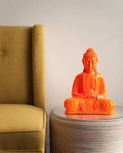 30CM NEON ORANGE BUDDHA - Milly + Eugene - Brand new stock South Coogee Eastern Suburbs Preview