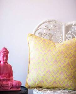NEON BAROQUE CUSHION - Milly + Eugene - Brand new stock South Coogee Eastern Suburbs Preview
