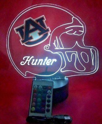 Auburn Tigers NCAA College Football Light Up Lamp LED Remote Personalized - Auburn Lighting