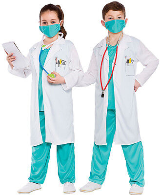 Oberarzt Krankenhaus Doktor Kinderkostüm NEU - Mädchen Karneval Fasching (Arzt Kostüme Kinder)