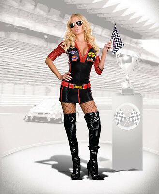 Dreamgirl 6477 Ride It Racing Babe Costume Medium