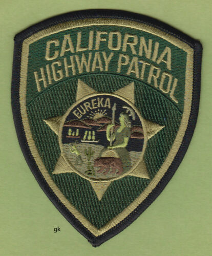 CALIFORNIA HIGHWAY PATROL POLICE   SHOULDER PATCH  (  Green ).