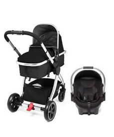 Mothercare Journey Travel System Black/Chrome. Complete. Excellent Condition.
