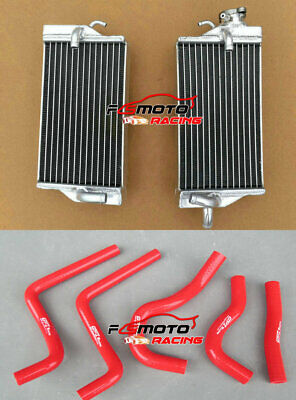 For Honda CR125 CR125R 2-stroke 2003 03 Aluminum Radiator & RED Silicone Hose