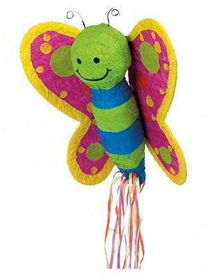 BUTTERFLY PULL STRING PINATA Fun Kids Birthday Party Game Decoration - Butterfly Pinata