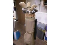 Ladies golf clubs and bag