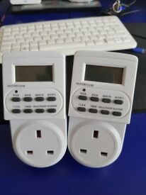 7 Day 24 Hour Programmable Digital Timer Socket Plug with LCD Display Eurosonic