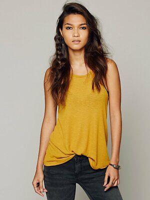 - New Free People La Nite Tank Top Boho Ribbed Loose Cotton Cami Womens Xs-L $20
