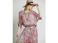 Floral Silk Dress UK10- MES DESMOISELLES