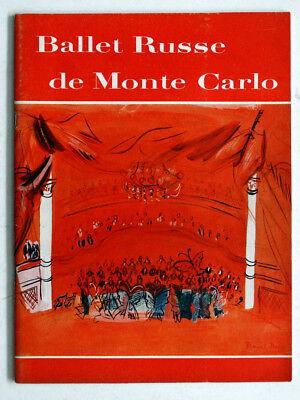 Vintage 1951 1952 Season BALLET RUSSE DE MONTE CARLO Tour Program / DANILOVA