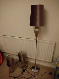 Next Lamps - Table Lamps & Matching Floor Lamp