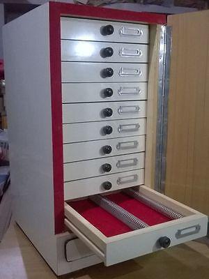 Wooden Microscope Prepared Slide Storage Cabinet For 1000 Slides