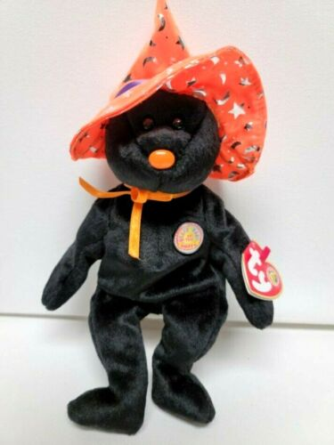 """Ty Beanie Babies New BBOM -Pocus with Huge Witch Hat- Fun Halloween Gift 8"""" 20cm"""