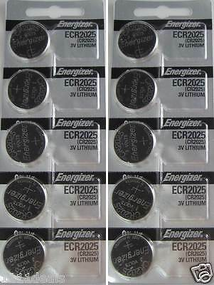 Energizer CR2025 2025 3V Lithium Coin Cell Batteries 10 pk