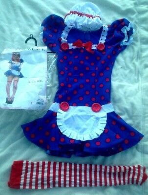 Leg Avenue Jr. Rag Doll Dress Costume M/L  Adult Halloween Clown Raggedy - Leg Avenue Rag Doll Kostüm