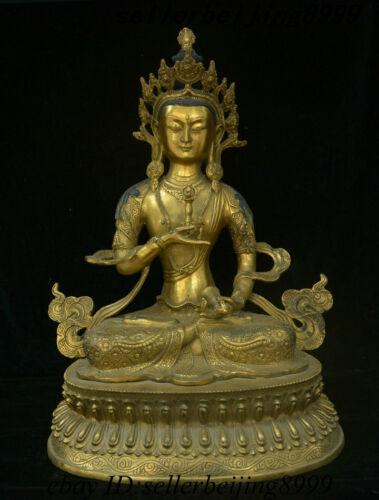 Antique Tibetan Bronze Gilt Vajradhara Vajrabhairava Goddess Boddhisattva Statue