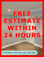 Professional & affordable painting available throughout the GTA