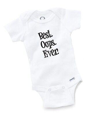 Best Oops Ever Onesie Baby Shower Gift Geek Funny Cute Geek Custom Bodysuit