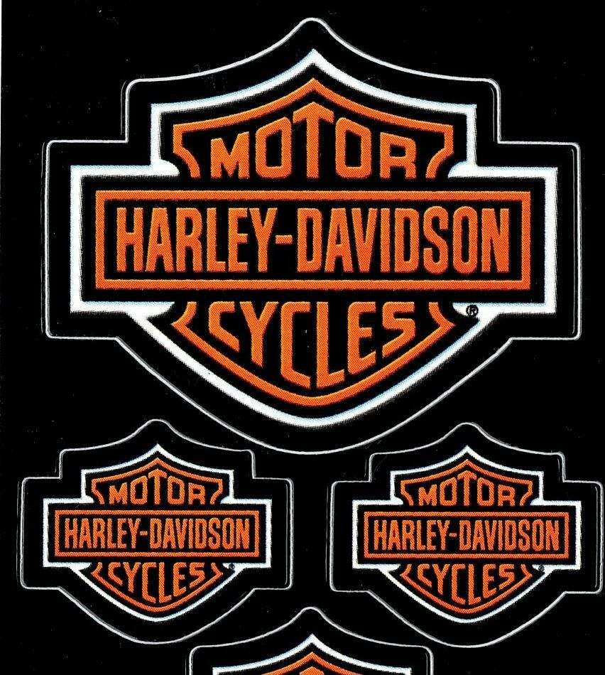 Five (5) Harley Davidson Bar & Shield Decals Made In Usa Sheet Of 5 Decals