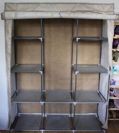 Double modular framed wardrobe