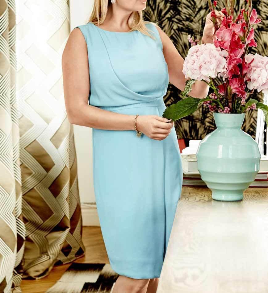 details zu guido maria kretschmer designer etuikleid mint gr 40 bis 52  abendkleid kleid