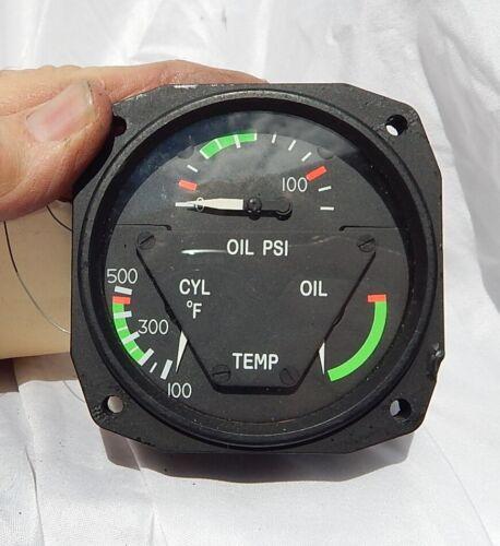 Cessna  Aircraft 3 in 1 Engine  Indicator Gauge Instrument