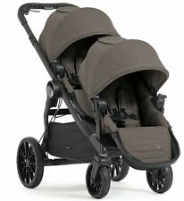 Baby Jogger City Select Lux Twin Tandem Double Stroller with Second Seat Taupe