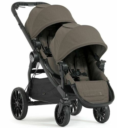 Baby Jogger City Select Lux Twin Tandem Double Stroller w/ Second Seat Taupe NEW