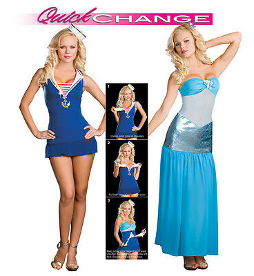 Tail of Two Seas Quick Change Sailor to Mermaid Costume, Dreamgirl 6533, Size XS