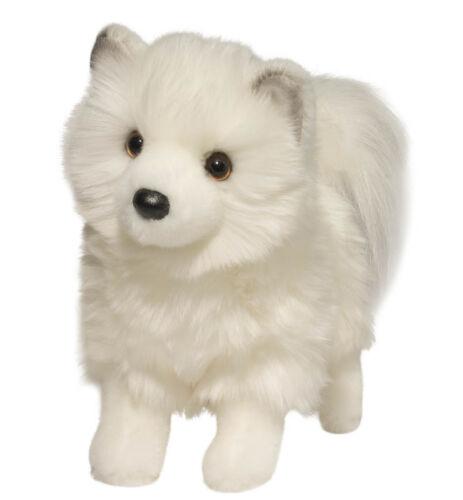 New DOUGLAS TOY Stuffed Plush SIBERIAN HUSKY POMERANIAN POMSKI White Dog Pomsky