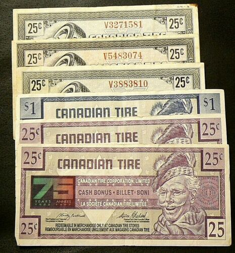 Canadian Tire Coupons Lot of 6  #5341