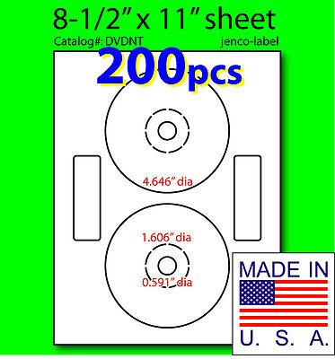 200 Neato Compatible Cddvd Labels Matte White Laser Inkjet
