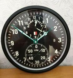 Wall Clock Soviet Russian USSR aircraft cockpit chronograph AChS-1