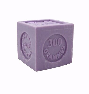 French Moisturizing Marseille Lavender Cube Soap w/ Shea Butter & Olive Oil 300g Olive French Soap