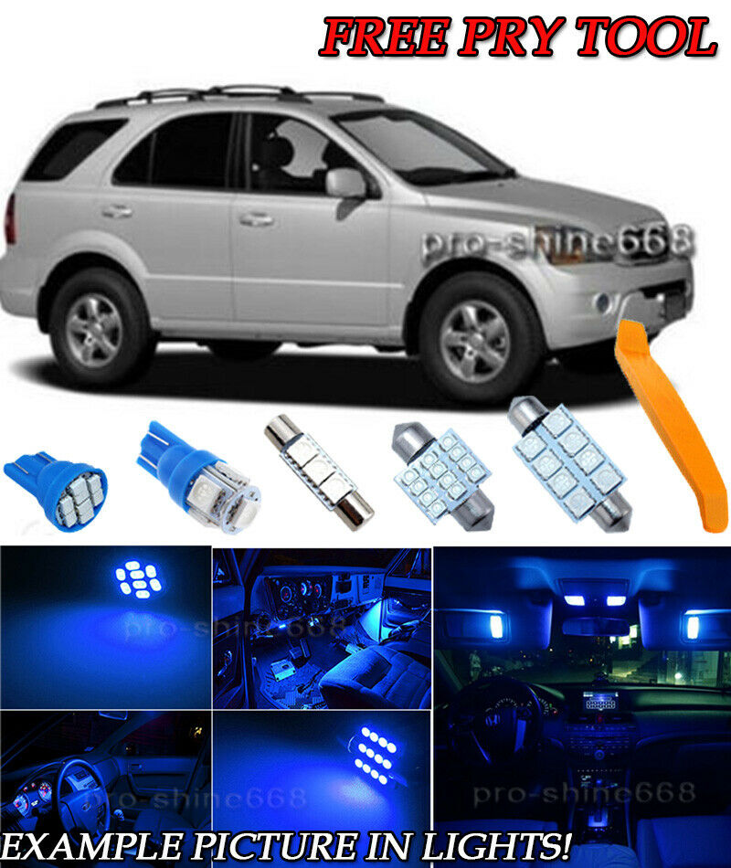 10x White LED Lights Interior Package Deal For 2007 2008 2009 Kia Sorento