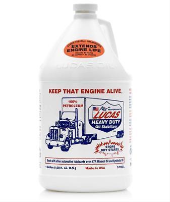 Lucas Oil Motor Oil Additive Heavy-Duty Stabilizer One Gallon Bottle Set of -