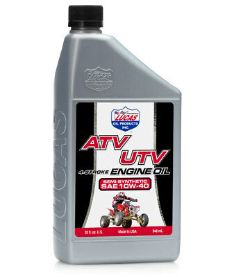 Atv 4 Stroke Engine Oil (6 QUARTS OF LUCAS ATV/UTV 4-STROKE ENGINE OIL . SEMI-SYNTHETIC 10W-40 #10720 )