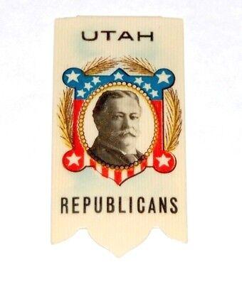 1908 WILLIAM TAFT UTAH LAPEL HANGER campaign political pin presidential election