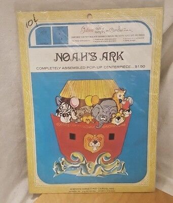 Vintage Pakay Party Papers by Gibson Noah's Ark Pop-Up Complete Centerpiece 7621 - Noahs Ark Centerpieces