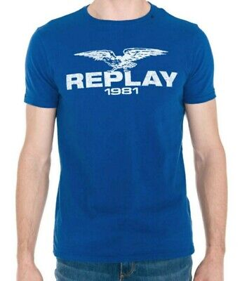 Replay T Shirt Blue. Size Large. BNWT. FREE POSTAGE