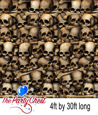 30FT HALLOWEEN CATACOMBS BACKDROP Horror Skulls Scene Setter Wall Decoration