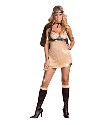 Viking Vixen Adult Costume (E) - Viking Vixen