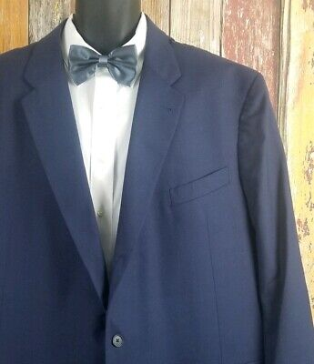 Joseph Abboud Freedom Line Men's Blue Wool Blend 2 Piece Suit 56 Long 50x32