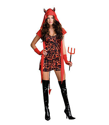 Running with the Devil Halloween Costume (S 2-6) - Dreamgirl 6492 Sexy Devil - Running Halloween Costume