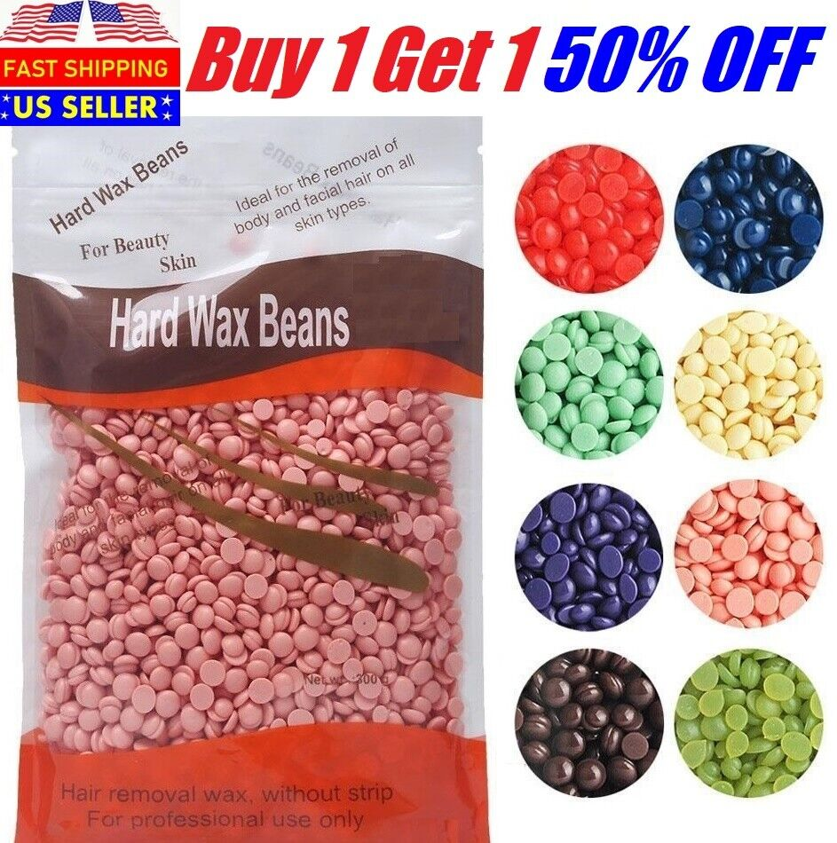 300g Hard Wax Beans Beads Refill Body Hair Removal No strip in Lavender Rose Health & Beauty